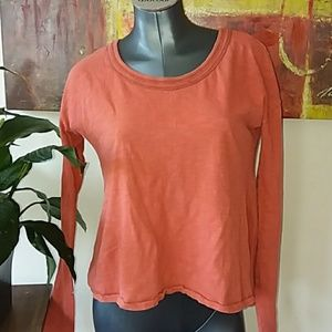 WE THE FREE PEOPLE orange cotton long sleeve